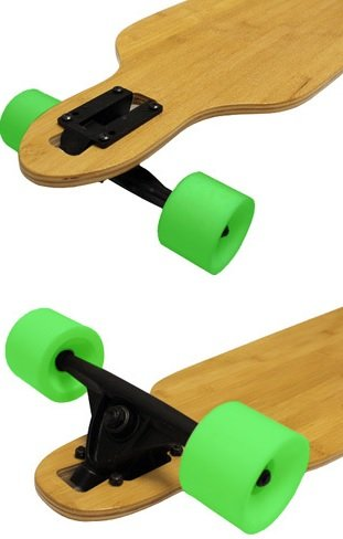 Bamboo Drop Through Complete Longboard Skateboard sale 2016