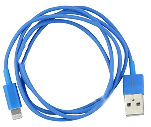 """myLife Vintage Blue {Classic Design} 6′ Feet (1.8 Meter) Quick Charge Cable and USB Data Sync Cord for iPhone, iPod and iPad Models """"SEE COMPATIBILITY"""" (Durable Rubber Coat)"""