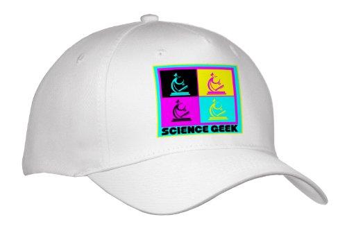 Dooni Designs Cmyk Hipster Designs - Cmyk Pop Art Microscope Science Geek Design Cartoon - Caps - Adult Baseball Cap