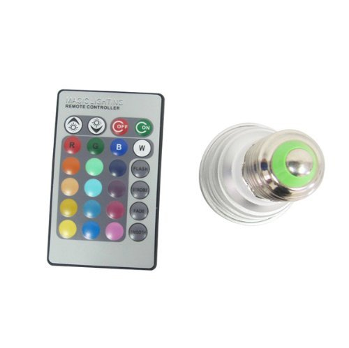 Nexscene(Tm) Changing-Colors 16 Different Lighting Led Light Bulb And Remote With 5 Modes