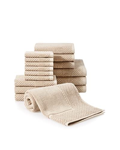 Chortex Honeycomb 16-Piece Towel Set, Flax