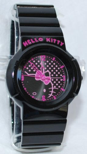 HELLO KITTY BLACK AND PINK WATCH