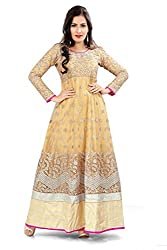 Priyanshu Creation Women's Net Chiku Dress Material