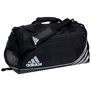 adidas Team Speed Small Duffel, Black (12 x 22 x 12-Inch)