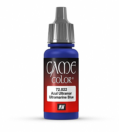 Vallejo Game Color Ultramarine Blue Paint, 17ml