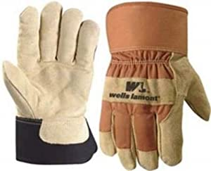 Wells Lamont 5130M Work Gloves with Palomino Suede Cowhide, Safety Cuff, G100 Thinsulate, Medium