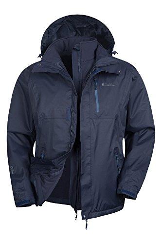 Mountain Warehouse Bracken Herren 3 In 1 wasserdichte jacke Multifunktionssjacke mit abnehmbarer Softshell