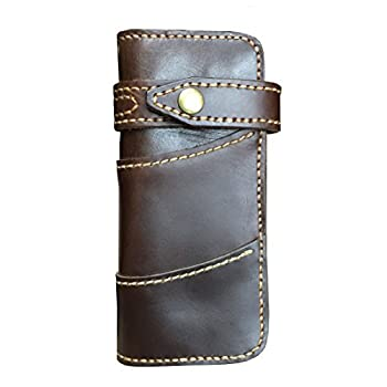 D'SHARK Men's Vintage Biker Genuine Leather Billfold Wallet