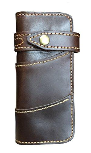 D'SHARK Men's Vintage Biker Genuine Leather Billfold Wallet 0