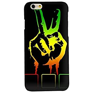 Clapcart Finger Printed Mobile Back Cover for Apple iPhone 6 / iPhone 6S -Multicolor