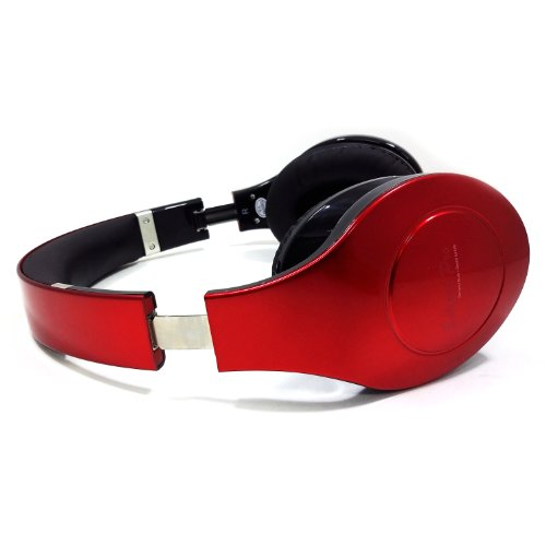Eclipse Pro Wireless Bluetooth Foldable Headphones With A Built In Microphone - Red