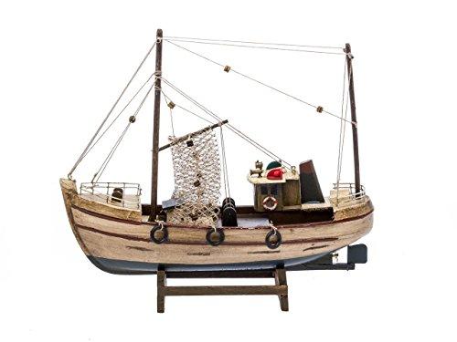 "Nautical memorabilia - solid model cutter ship - fishing boat - wood - 11.8"" (30cm)"