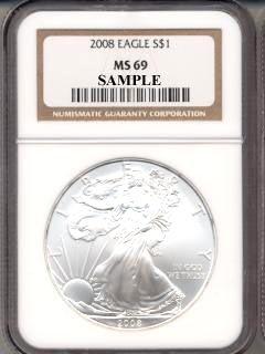 2008 NGC MS 69 Silver Eagle