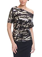 Tantra Blusa Camouflage With Irregular Neck (Caqui)