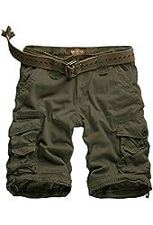 Match Men's Twill Cargo Shorts Quick-dry Summer Shorts