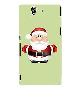 Printvisa Animated Cute Santa Claus Back Case Cover for Sony Xperia Z::Sony Xperia Z L36h