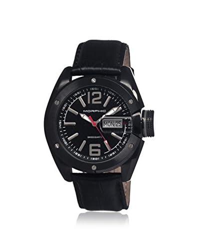 Morphic Men's MPH1606 M16 Series Black Leather Watch