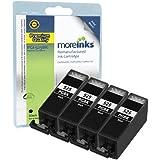 4 Cartouches d'encre Compatibles pour Imprimante Canon Pixma MG5350 - Grande Noir- Avec Puce