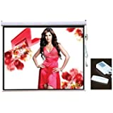 "PCW92ME 92"" HD Projector Screen 16:9 Widescreen Matte White Electric Motorised w/ Remote Control"