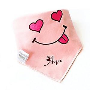 Dehang - (3 Pcs) Baberos Pañuelos triángulos de algodón con Gesto dos capas para Bebés niños niñas - Color aleatorio marca ANQIWA