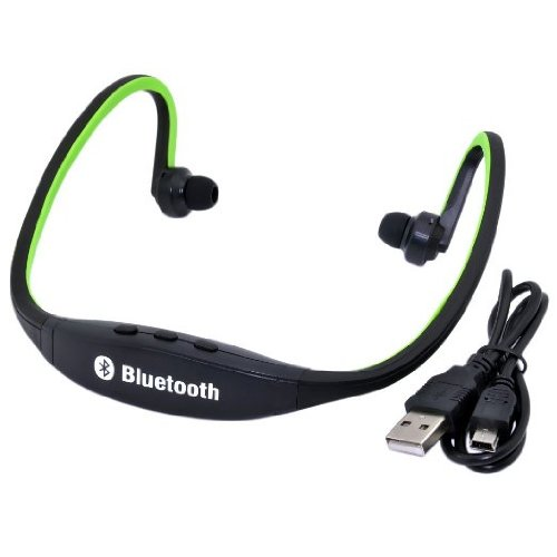 Usb Sports Wireless Bluetooth Headset Headphone For Apple Iphone, Ipad, Blackberry, Htc, Samsung , Samsung S3, Samsung S2, Nokia, Motorola, Lg , Sony Ericson, Pda, Tablet Pc, Pc, Laptop And Any Bluetooth Enabled Device (Green)
