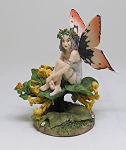 "Linda Ravenscroft Honeysuckle Fairy Statue 4.75""H"