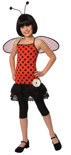 Living Fiction Tween Love Bug Girls 4pc Adult Costume Red Large (12-14)