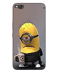 Snazzy Minions Printed Multicolor Hard Back Cover For HTC One X9 Smartphon