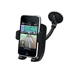 Kensington K66627US Windshield Car Mount with Sound Amplified Cradle for iPhone (Black)