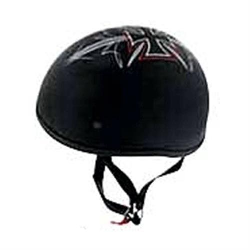 Skid Lid Street Rod Original Helmet (Flat Black, Medium)