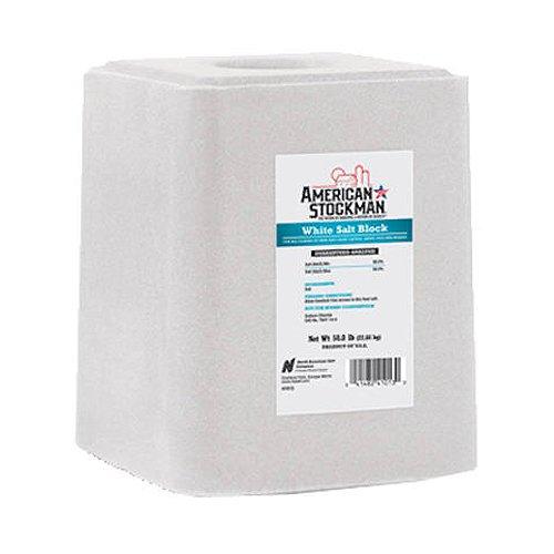 North American Salt 41013 American Stockman Plain White Salt Block Pet Supplement, 50-Pound (Livestock Salt Blocks compare prices)