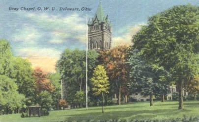 Gray Chapel, OWU in Delaware, Ohio. 1963