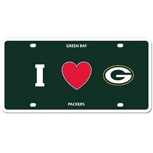 NFL Green Bay Packers Styrene Plate- I Heart Style