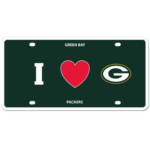 NFL Green Bay Packers Styrene Plate- I Heart Style