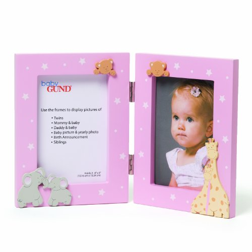 Gund Baby Double Opening Photo Frame, Pink (Discontinued by Manufacturer)