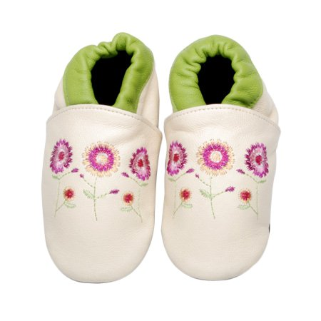 Flower Shoes in White Size: 0-6 months