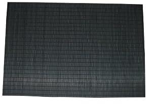 Zeller 26770 Ensemble de sets de table Bambou Noir 45 x 30 cm 4 pièces