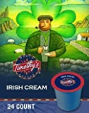 Timothys World Coffee * IRISH CREAM * 24 K-Cups for Keurig Brewers