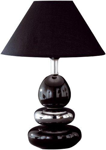 Honsel Leuchten 57441 Tischleuchte Keramik schwarz / chrom Schirm schwarz