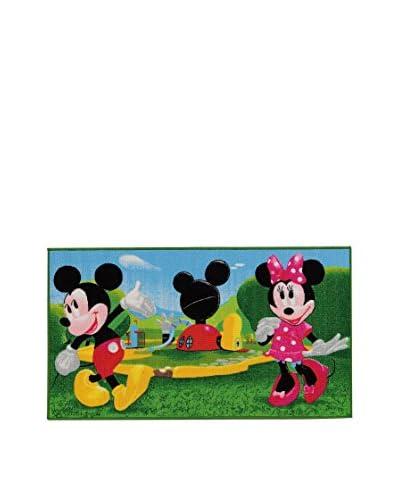 ABC Carpet Mickey Mouse Clubhouse groen / hemelsblauw 80 x 140 cm