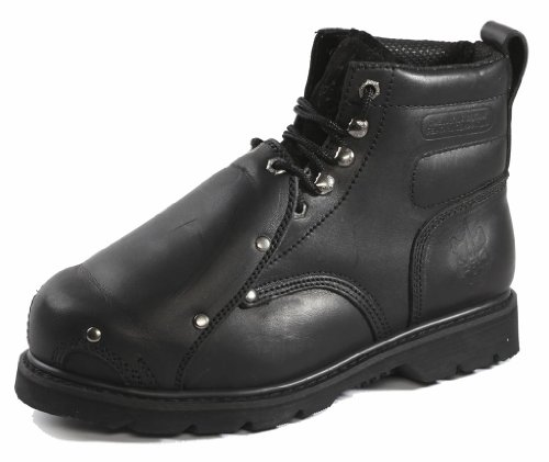 "Rhino Men'S 6Ms01 6"" Steel Toe Metatarsal Leather Work Boot,10 D(M) Us,Black"