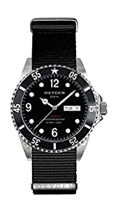 Oxygen Moby Dick 36 Unisex Quartz Watch with Black Dial Analogue Display and Black Nylon Strap EX-D-MOB-36-NN-BL
