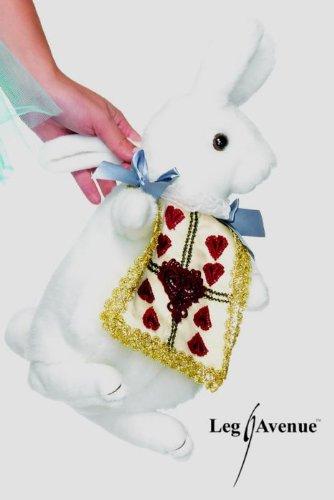 Leg Avenue – Wonderland Rabbit Plush Purse – One Size – White – A1521