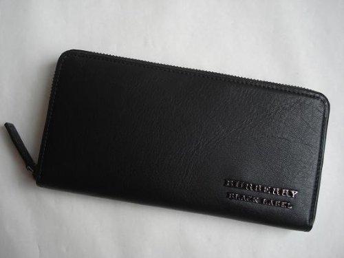 バーバリー ブラックレーベル(BURBERRY BLACK LABEL) 長財布 ラウンドファスナー 黒 ブラック メンズ