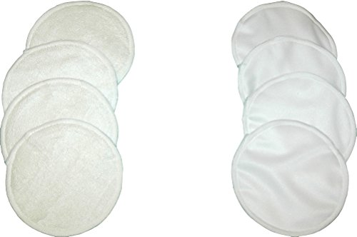 LovedByMoms Overnight Washable Nursing Pads Organic-Breastfeeding Reusable Nursing Pads Bamboo
