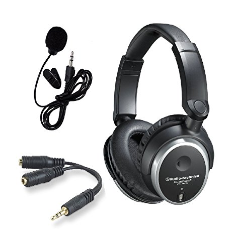 Audio-Technica-ATH-ANC7B-QuietPoint-Active-Noise-Cancelling-Closed-Back-Wired-Headphones-bundled-with-the-Inline-Mic-and-EarphoneHeadphone-Splitter