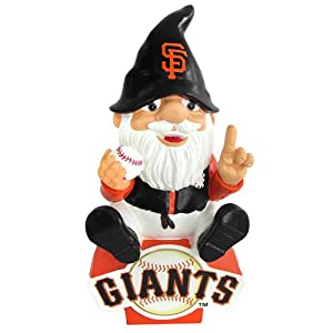 San Francisco Giants Forever Collectibles Gnome Sitting on Logo by Forever Collectibles