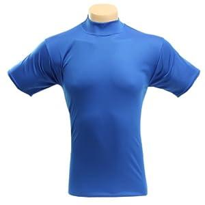 McDavid 907T Mens Short Sleeve Referee Cut Mock T Shirt Navy Medium by McDavid