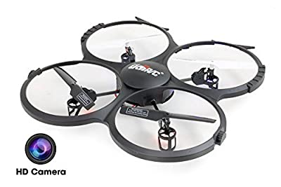 UDI U818A-HD 2.4GHz 4 CH 6 AXIS Headless RC Quadcopter w/ HD Camera, Extra Battery and Return Home Function from UDI RC