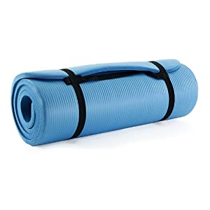 ProSource Premium 1/2-Inch Extra Thick 71-Inch Long High Density Exercise Yoga Mat with Comfort Foam and Carrying Case